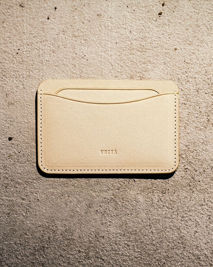 [VOTTA] CARD WALLET (Natural Leather)